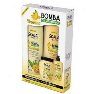 Kit Shampoo E Condicionador Skala Bomba Banana 325Ml