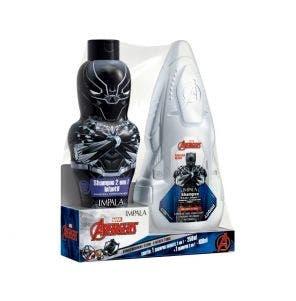 Kit Shampoo 2 em 1 250ml + 400ml Infantil Impala Avengers Pantera Negra