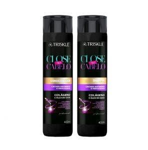 Kit Shampoo 400 ml  + Condicionador 400 ml Triskle Close No Cabelo