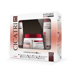 Kit Shampoo Condicionador e Máscara Triskle Cicatri-10 1Kg