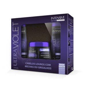 Kit Shampoo Condicionador e Máscara Triskle Ultra Violeta 1Kg