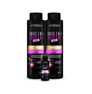 Kit Shampoo E Condicionador Triskle Brilho Brilho Meu 1660Ml