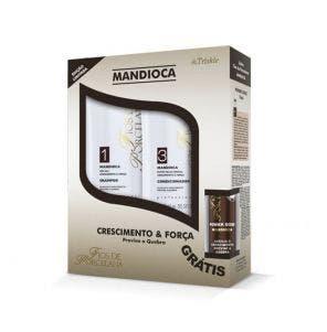 Kit Shampoo E Condicionador Triskle Fios De Porcelana Mandioca