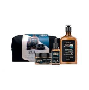 Kit Urban Men Farmaervas Com Shampoo + Óleo + Pomada