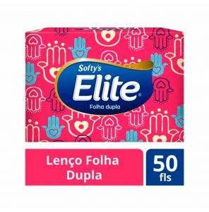 Lenço De Papel Elite Softys Folha Dupla - 50 Unidades