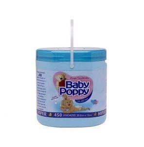 Lenco Umedecido Baby Poppy Balde Azul - 450 Unidades