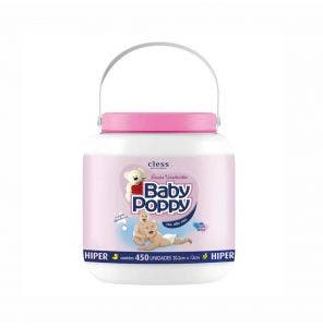 Lenço Umedecido Baby Poppy Balde Rosa C/ 450Un