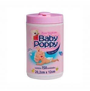 Lenço Umedecido Baby Poppy Pote Jumbo Rosa C/ 150Un