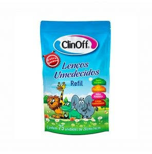 Lenço Umedecido Clin Off Refil C/ 75Un