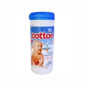 Lenço Umedecido Cotton Line Baby Care Pote Boy Azul C/ 40Un