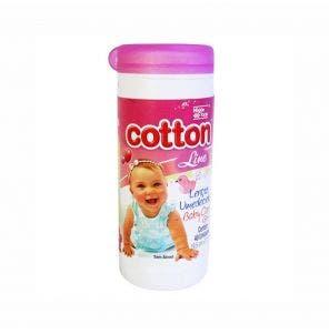 Lenço Umedecido Cotton Line Baby Care Pote Girl Rosa C/ 40Un