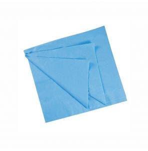 Lencol Descartavel Santa Clara Luxo Azul Sem Elasticos 5Un