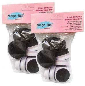 Kit Refil Para Pedicuro Mega Bell - 12 Lixas