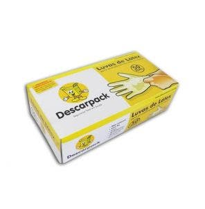 Luvas Latex Descarpack G Com 100 un Com Pó