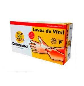 Luvas Vinil Descarpack P Com 100 un Com Pó