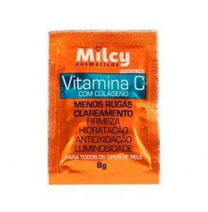 Máscara Facial Milcy Sachê Vitamina C com Colágeno 8g