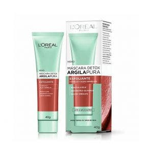 Máscara Esfoliante Facial L'Oréal Detox Argila Pura 40g