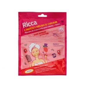 Mascara Tratamento Capilar Ricca Sache Frutas Verm Chocolate