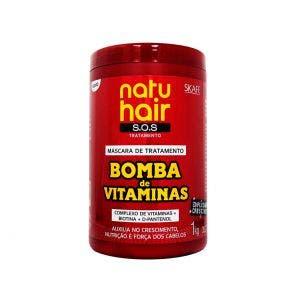 Mascara De Tratamento Natu Hair Sos Bomba De Vitaminas 1000G