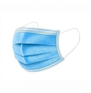 Mascara Descartavel Santa Clara Com Elastico Azul C/ 5Un