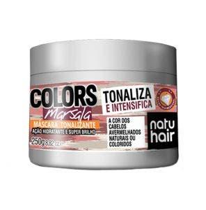 Mascara Tonalizante Natu Hair Marsala 250G