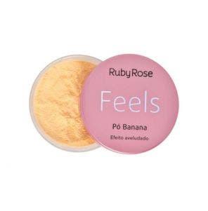 Pó Facial Ruby Rose Banana Feels Efeito Aveludado 15g