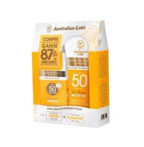 Protetor Solar Austalian Gold 200g Facial Fps50 50g