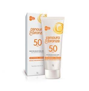 Protetor Solar Cenoura E Bronze FPS50 Facial 50g