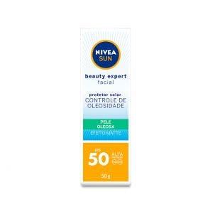 Protetor Solar Facial Nivea Sol Beauty Oleo Fps50 50g