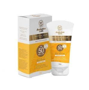 Protetor Solar Facial Australian Gold Gel Creme Fps50 50gr