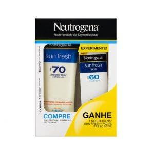 Protetor Solar Neutrogena Sun Fresh Fps70 200ml + Grátis Fps60 Facial 50ml