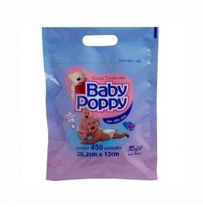 Refil Lenço Umedecido Baby Poppy C/ 450Un