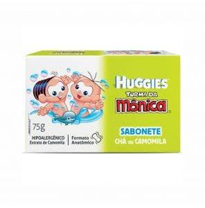 SABONETE INFANTIL TURMA DA MONICA HUGGIES CAMOMILA E ALOE VERA 75G