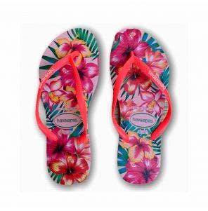 Sandália Havaianas Slim Hibisco 35/6 Rosa Ballet