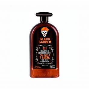 Shampoo Black Barber 2X1 280Ml