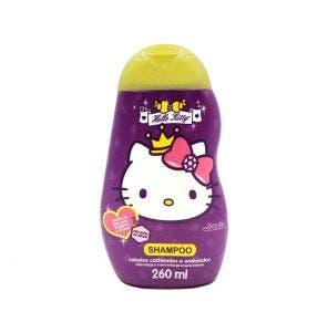 Shampoo Infantil Hello Kitty Cabelos Cacheados E Ondulados 260Ml