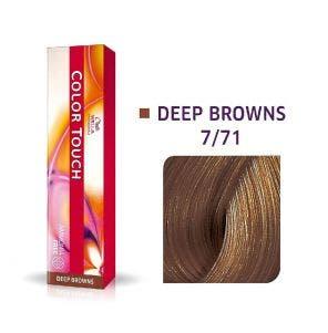 Tinta Color Touch 7.71 Deep Brown Louro Medio Marrom Acinzentado 60g