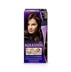 Tinta De Cabelo Retoque De Raiz Koleston 30 Castanho Escuro