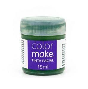 Tinta Facial Pintando A Cara Liquida Verde 15Ml