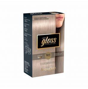 Tintura Acquaflora Kit Hidra Gloss 121 Louro Especial Acinzentado