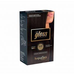 Tintura Acquaflora Kit Hidra Gloss 513 Castanho Claro Acinzentado Dourado