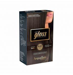 Tintura Acquaflora Kit Hidra Gloss 613 Louro Escuro Acinzentado Dourado