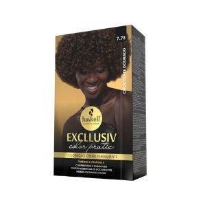 Tintura Haskell Color Pratic Kit 7.73 Chocolate Dourado