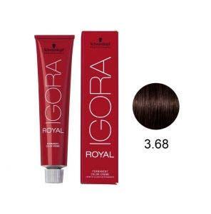 Tintura Igora Royal 3.68 Castanho Escuro Marron Vermelho