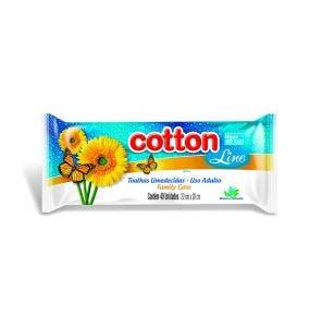 Toalha Umedecida Cotton Line Family Care - 40 Unidades