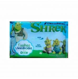 TOALHA UMEDECIDA GREEN SHREK - 50 UNIDADES