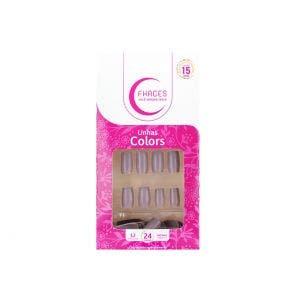 Unha Postiça Fhaces Colors Place Nude U3081