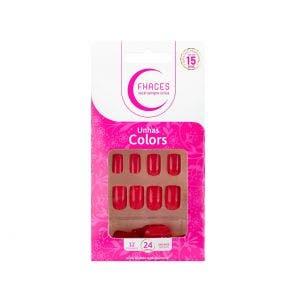 Unha Postica Fhaces Colors Escarlate Com 24un