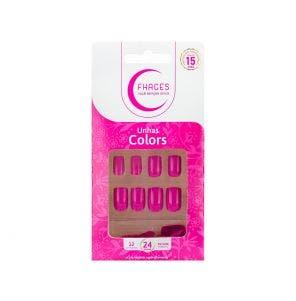 Unha Postica Fhaces Colors Rosa Fucsia 24un